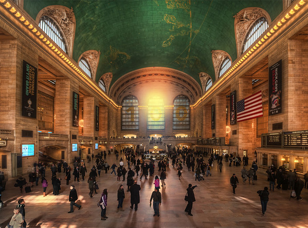 New York Grand Central In Golden Light