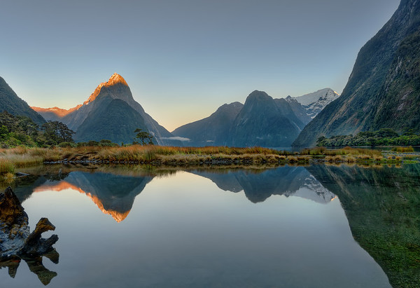 Peaceful Sunrise At Milford Sound
