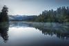 Lake Matheson in New Zealand