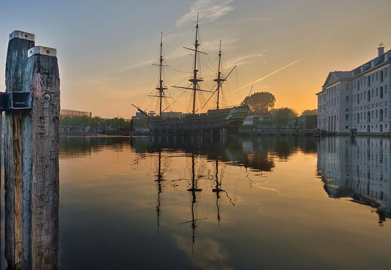 Amsterdam Maritime History Museum at Dawn
