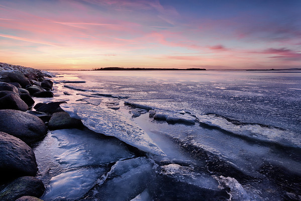 Icy Sunset at Veddelev