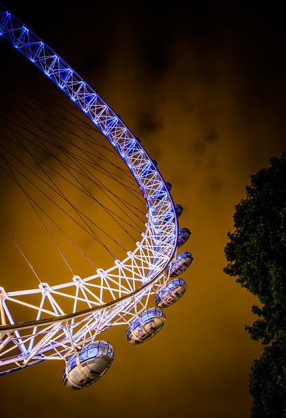 The Millinium Wheel In Fiery Sky in London. On great warm summer night I went down to the Millinium Wheel to get some close ups.  Photo by Jacob Surland. See www.caughtinpixels.com