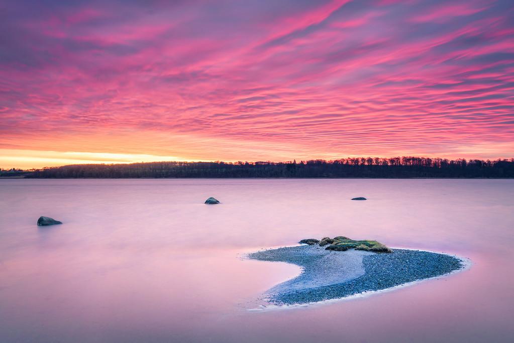 Denmark - Crescent Moon in the Water