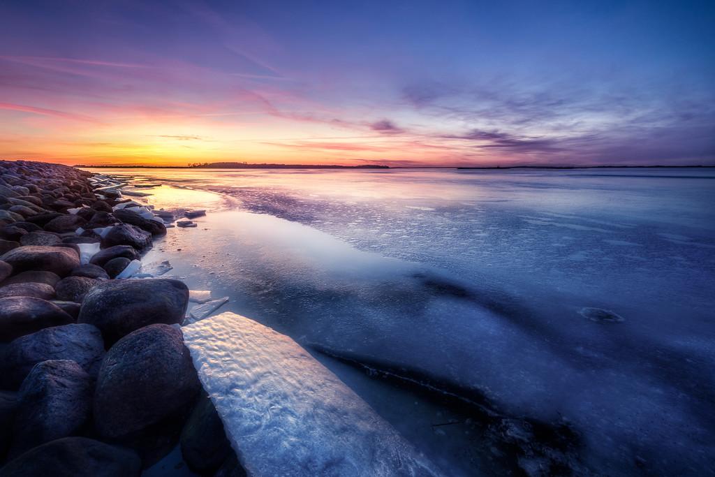 Denmark - Veddelev on a winters eve