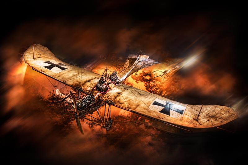 Old war aeroplane