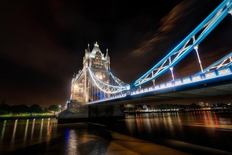 London Tower Bridge and below