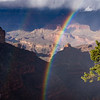 Got lucky to catch this rainbow during a break in a storm at the South Rim