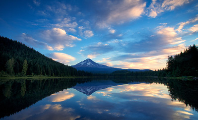 Mt Hood from Trillium Lake at Sunrise