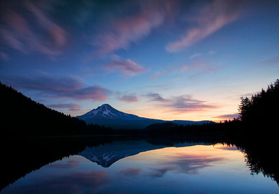 Mt Hood from Trillium Lake at First Light