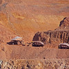Morenci Mines, AZ Trucks with rock minerals
