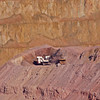 Morenci Mines, AZ Truck getting loaded with rock minerals