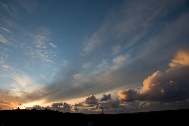 sunset taken at home