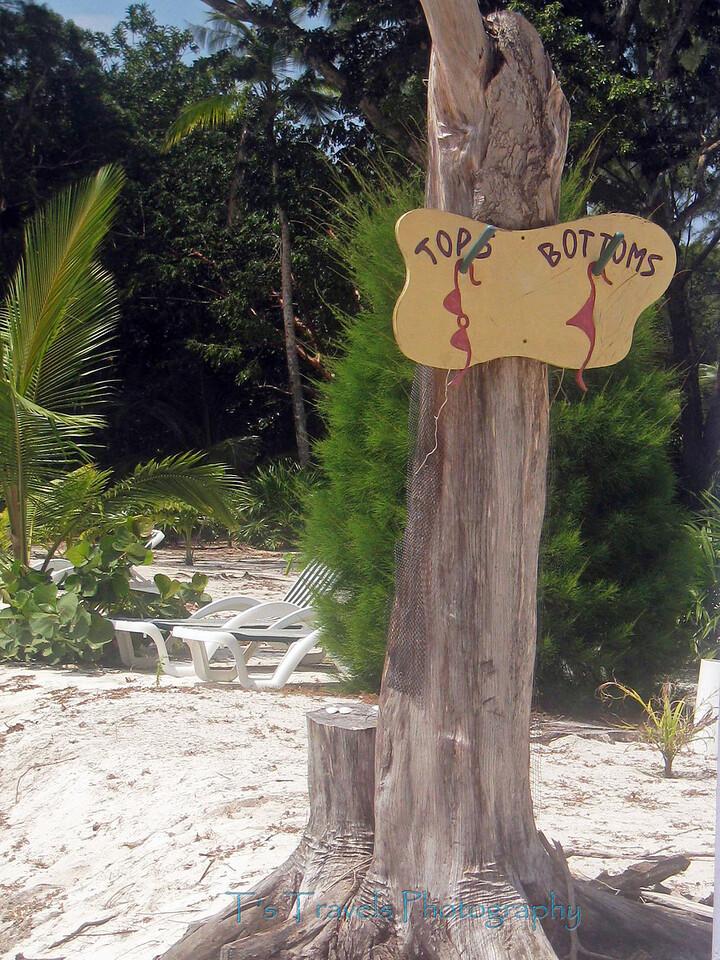 Private beach, sail from Utila '10