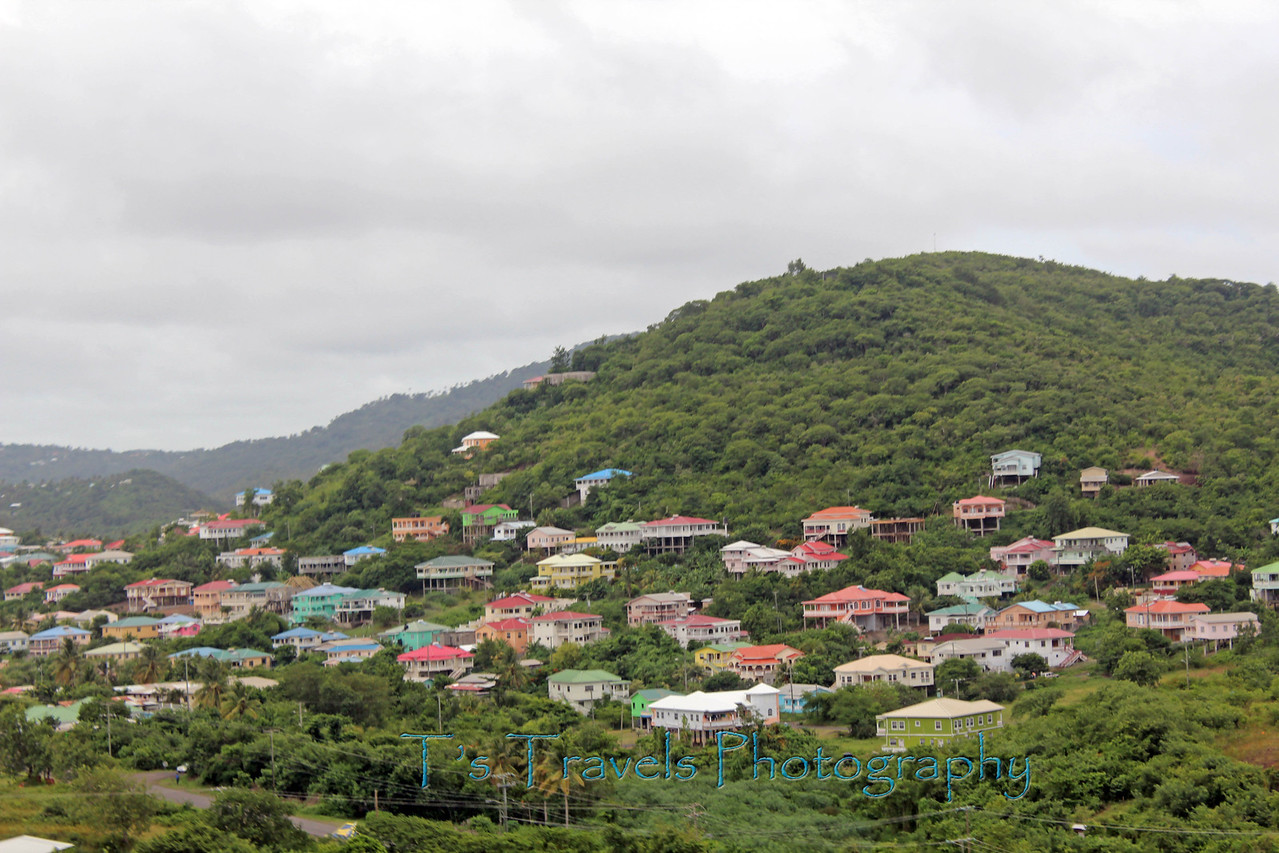 Colorful rooftops of  St.Lucia