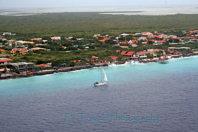 From a hill in the North, partial view of the Bonaire shoreline