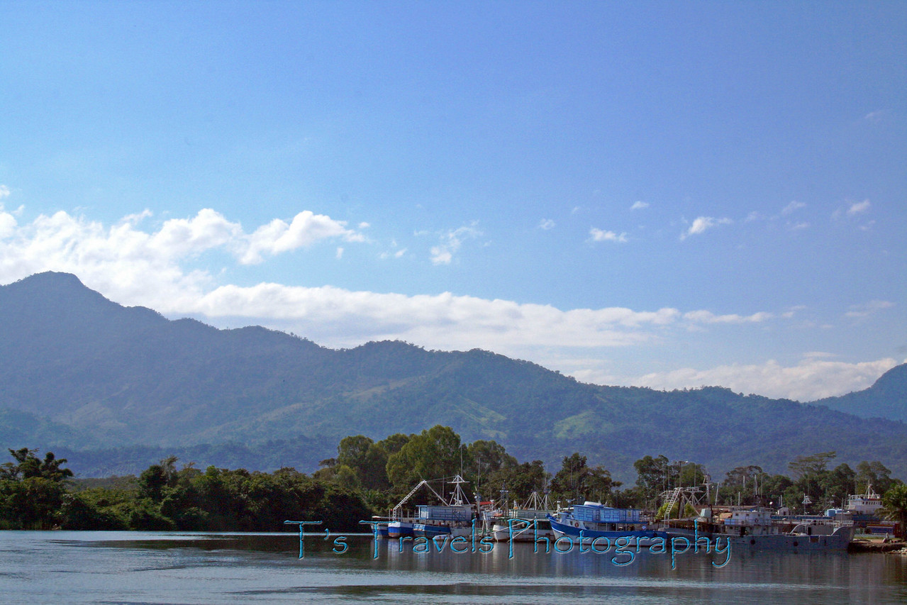 Port city, La Ceiba, on the northern coast of Honduras in Central America
