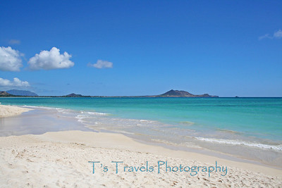The beach by the Kailua Canoe Club, Waimanalo, Hawaii