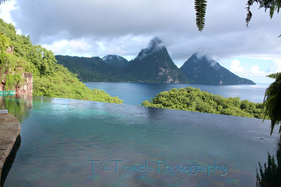 View from one of the rooms at Jade Mountain, St. Lucia