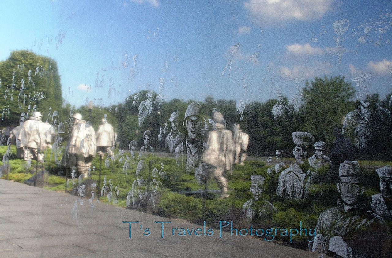 Korean War Memorial Reflection, Washington DC