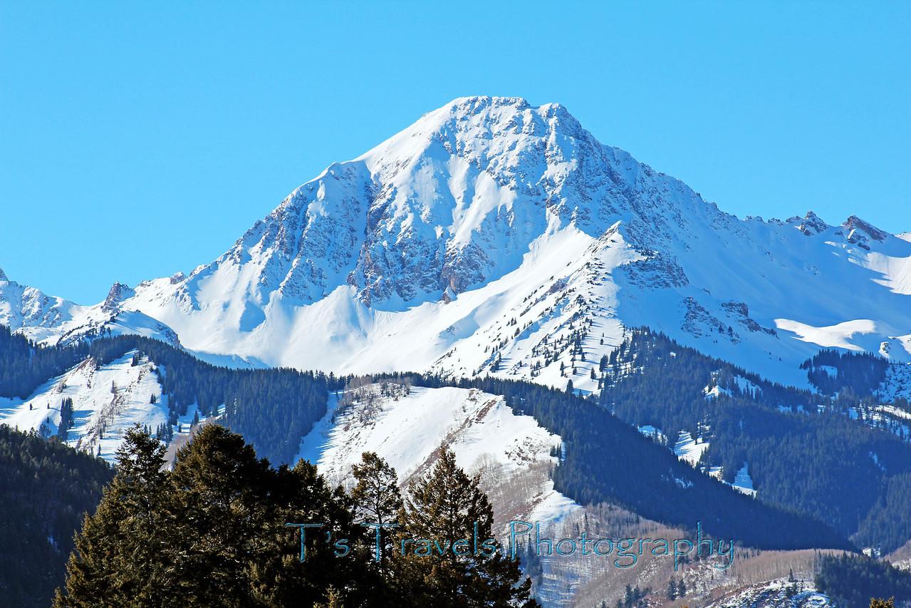 Snowcapped mountain top near Snowmass, Colorado