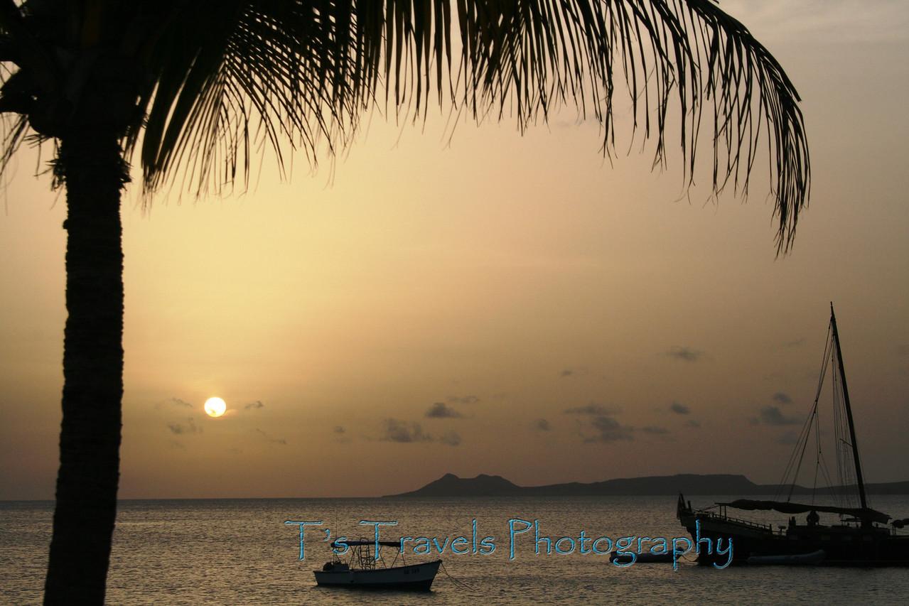 Sunset view from Sand Dollar Resort, Bonaire
