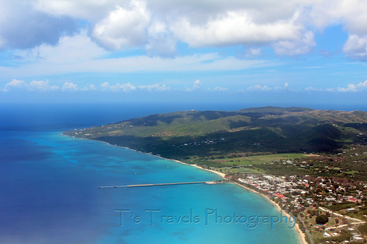View of Fredericksted Pier and the island of St.Croix '13