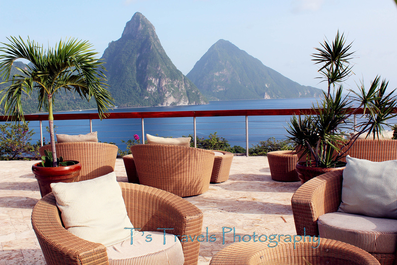 Sitting area on Jade Mountain, St. Lucia