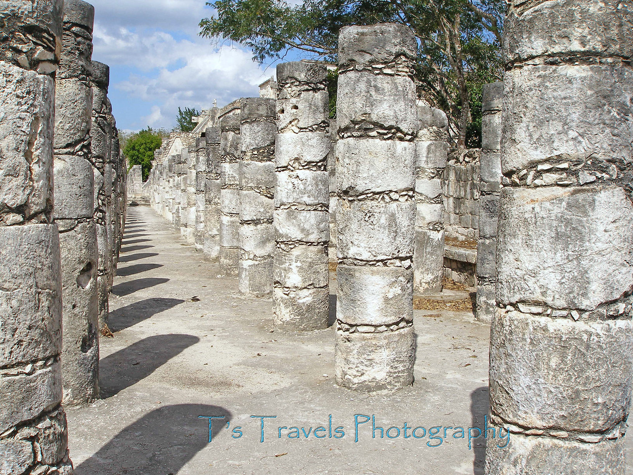Columns at Chichen Itza, Mexico '08