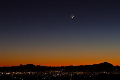 #64 Crescent Moon Sunset, Tucson, AZ