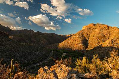 Sabino Canyon sunset, Tucson, Arizona