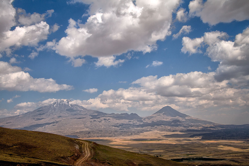 View of Mt Ararat from the road up to the site of Noah's Ark.