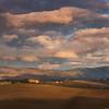 Tuscany sunset, rain is coming.