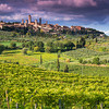 San Gimignano is famous for its medieval tower houses.