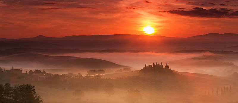 "A Tuscany icon, Belvedere (from Italian ""beautiful sight"")."