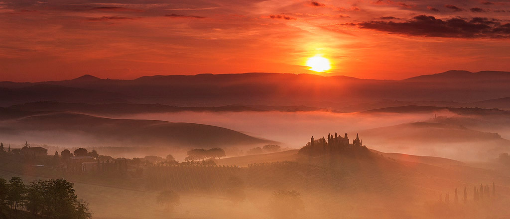 """A Tuscany icon, Belvedere (from Italian """"beautiful sight"""")."""