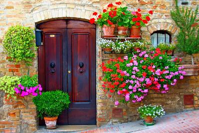 Tuscany #5 San Gimignano Door