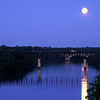 Franklin RR bridge in the moon light