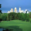 Minneapolis skyline from TW golf club