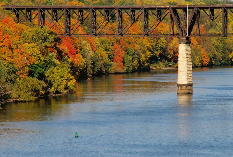 Franklin RR bridge in the fall