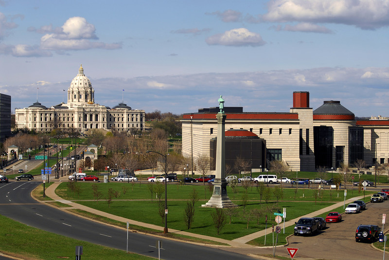 Wide view of the Capital & History Center