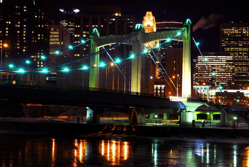 Hennepin Ave. Bridge at night