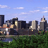 St. Paul skyline on a summer day