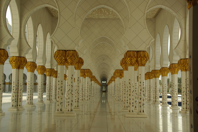 The Great Mosque, Abu Dhabi. This is all real