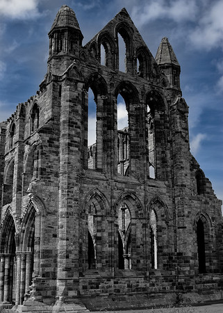 Whitby Abbey and Blue Skies