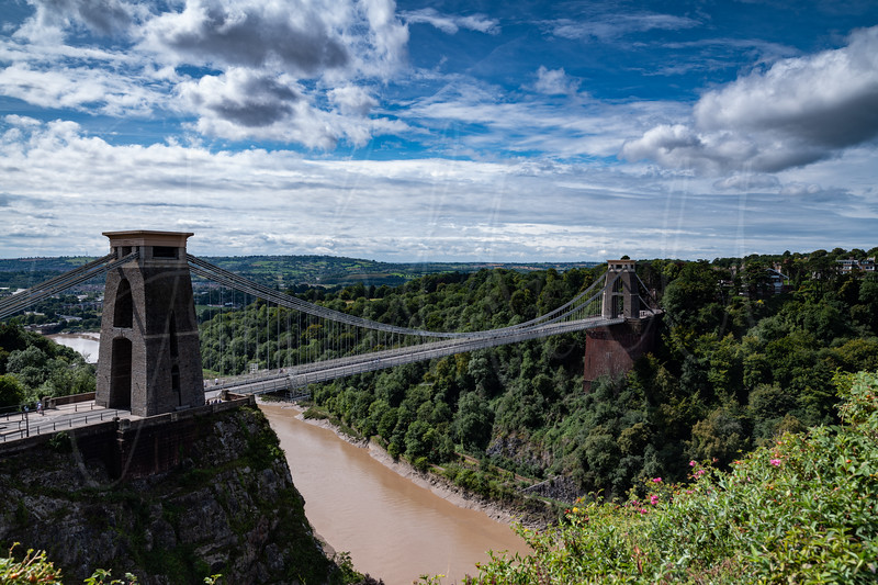A view from the Observatory overlooking the Clifton Suspension Bridge