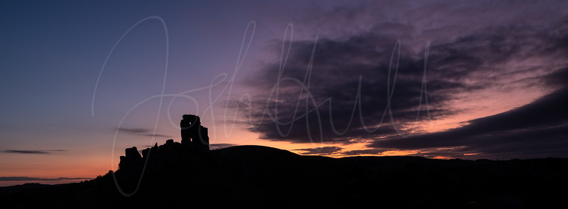 Silhouette of Corfe Castle