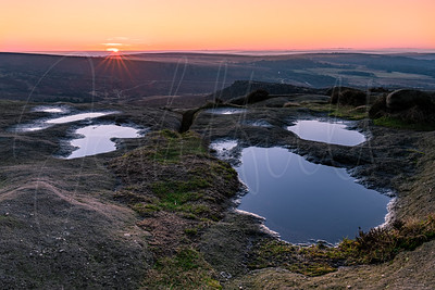 Sunrise over Burbage Edge