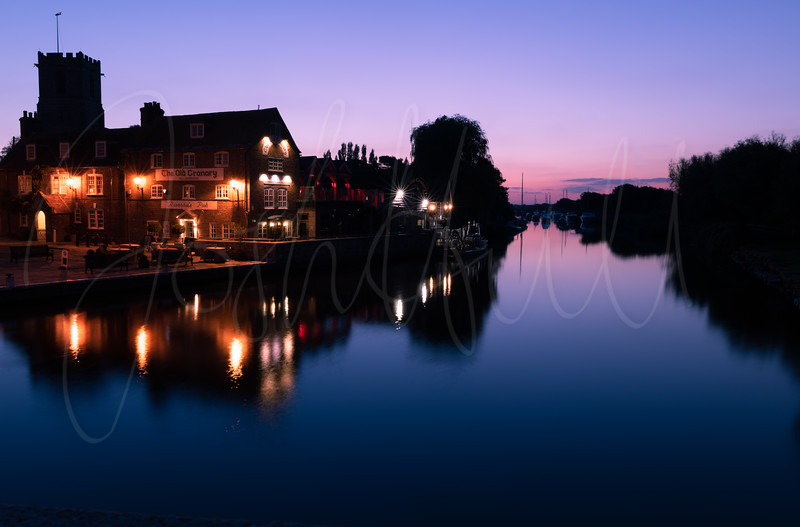 Blue hour over the River Frome