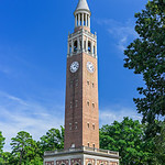 """Morehead-Patterson Carolina Bell Tower at UNC Chapel Hill in North Carolina"""