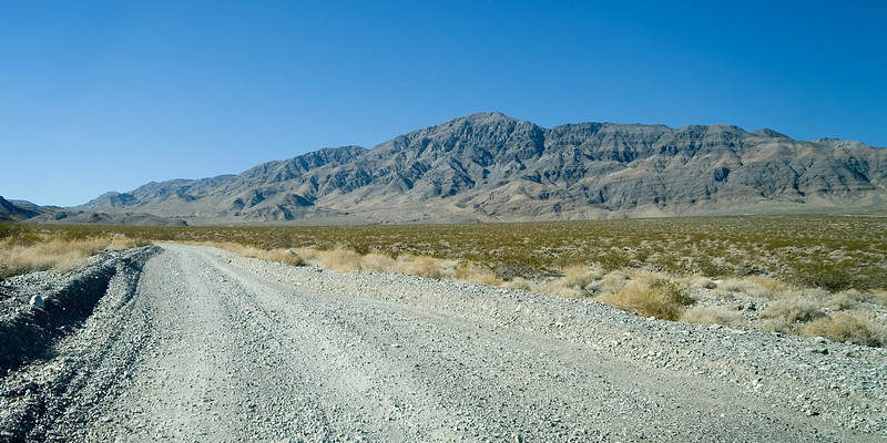 Road from Ubehebe Crater to Teakettle Junction and the Racetrack.